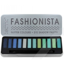 Technic Fashionista Glitter Colours Eyeshadow Palette Green/Blue